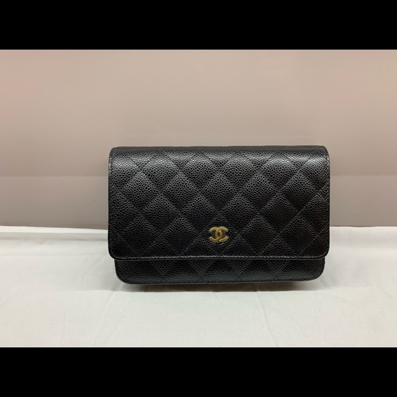35012c82be799 Chanel Wallet on Chain in black Caviar with Gold. NWT